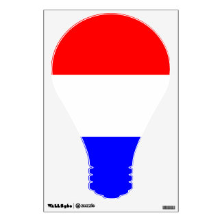 Muursticker lamp in rood~wit~blauw wall decal