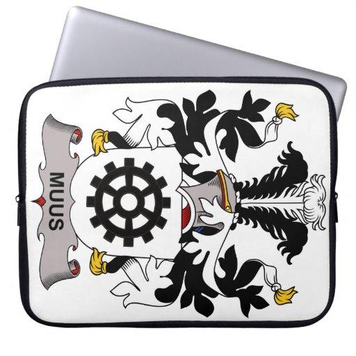 Muus Family Crest Computer Sleeve