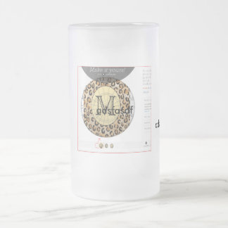 mux2 frosted glass beer mug