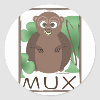 MUX FRAMED CLASSIC ROUND STICKER