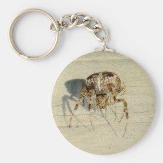 , Muy, araña asustadiza, melenuda grande Llavero Redondo Tipo Pin
