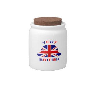 muy británico jarra para caramelo