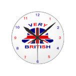 muy británico relojes de pared