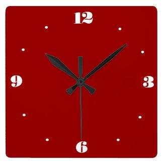 Muy claramente rojo y blanco > relojes de la cocin