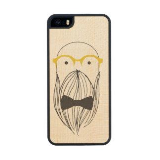 Muy de largo hombre barbudo funda de arce carved® para iPhone 5