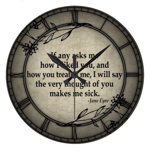 Muy sin embargo de usted reloj redondo grande