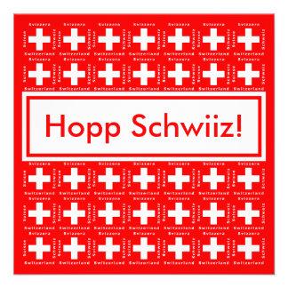 Muy suizo - Hopp Schwiiz va fiesta de Suiza Invitaciones Personalizada