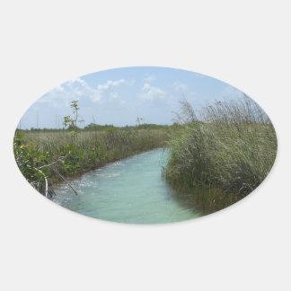 Muyil, Riviera Maya, Mexico Oval Sticker