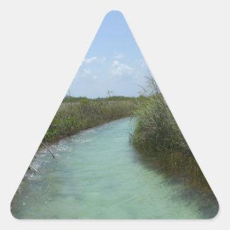 Muyil, Riviera Maya, Mexico Triangle Sticker