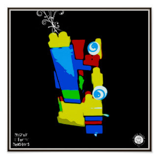 Muzak For Monsters: Abstract Horn Print
