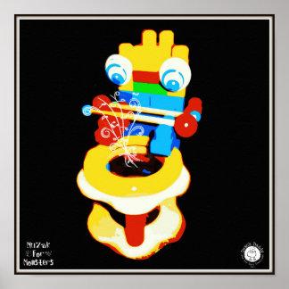 Muzak For Monsters: Drum Posters