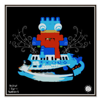 Muzak For Monsters: Piano or Keyboard Poster