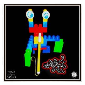 Muzak For Monsters: Slide Whistle or Trombone Posters