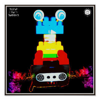 Muzak For Monsters: Stereo or Boom Box Poster