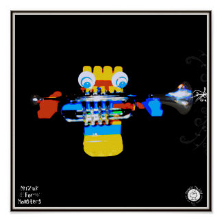 Muzak For Monsters: Trumpet Posters