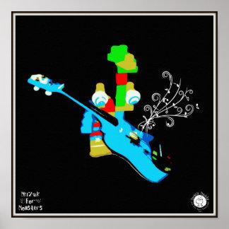 Muzak For Monsters: Ukelele or Guitar Posters