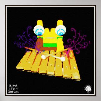 Muzak For Monsters: Vibraphone Posters
