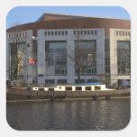 Muziektheater, Amsterdam Calcomania Cuadradas Personalizadas