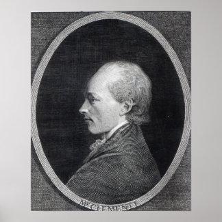 Muzio Clementi, 1803 Poster