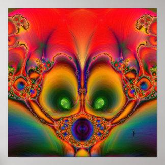 "Muzzled  (12"" x 12"") Art Print Poster"