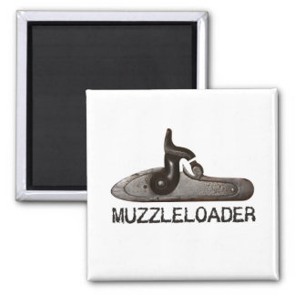 Muzzleloader breech & hammer, black powder rifle 2 inch square magnet