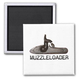 Muzzleloader breech & hammer, black powder rifle magnet