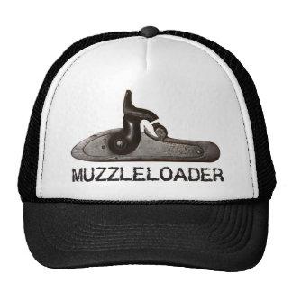 Muzzleloader breech & hammer, black powder rifle trucker hat