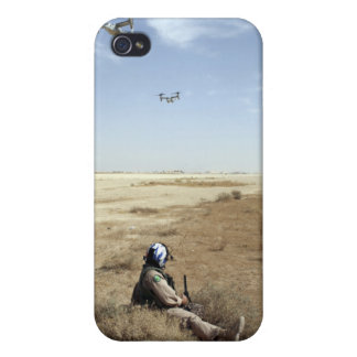 MV-22B Ospreys fly over US Navy Hospital Corpsm iPhone 4 Cover