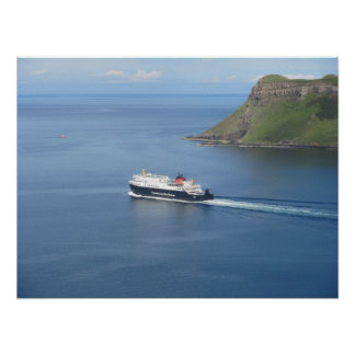MV Hebrides leaving the Isle-of-Skye Poster