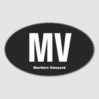 MV Pull Martha's Vineyard Oval Bumper Sticker