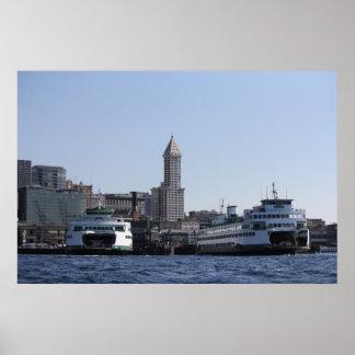 MV Tacoma and MV Kaleetan docked Elliot Bay Print