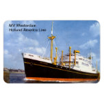 MV Westerdam, Holland America Line Rectangular Magnet