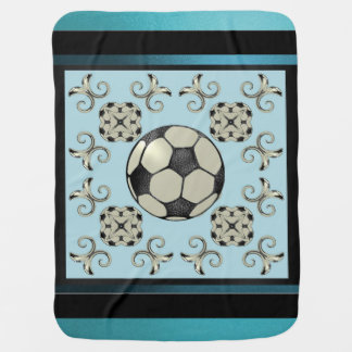 MVB Baby Blue Soccer Blanket-Design 1 Receiving Blanket