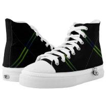MVB Blue Green light Strip ZipZ Hightop Shoe