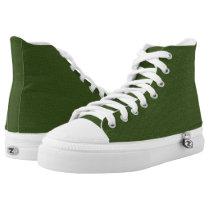 MVB faux burlap Sap Green Zip Z High Shoe