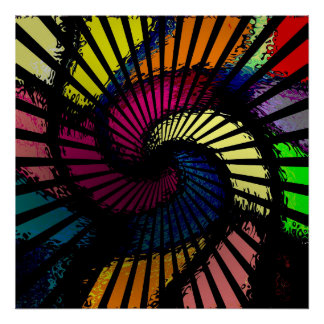 MVB  Psychedelic  Pop of Color Swirl Poster