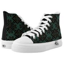 MVB Turquoise Geo Zip Z High Shoe Printed Shoes