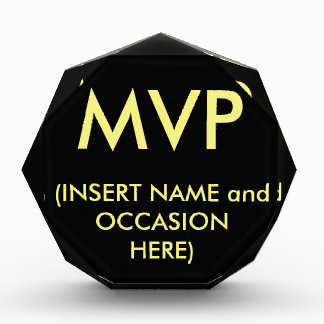 MVP ACRYLIC AWARD - Available at eZaZZleMan.com