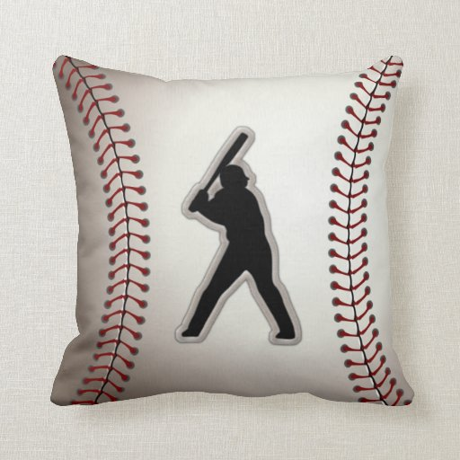 Mvp baseball player cool baseball stitches look throw for Cool couch pillows