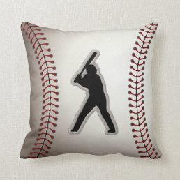 MVP Baseball Player - Cool Baseball Stitches Look Throw Pillow