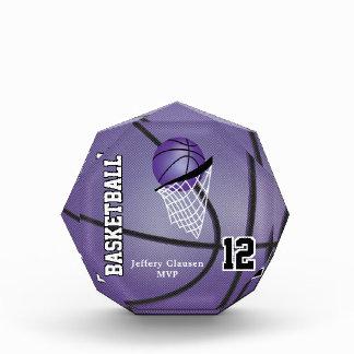 MVP Basketball Player | DIY Text - Purple Acrylic Award