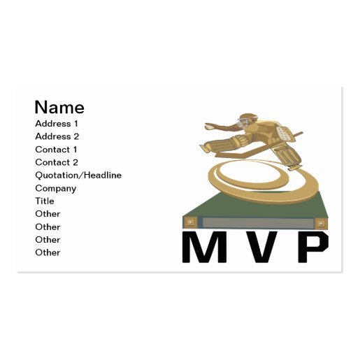 MVP Double-Sided STANDARD BUSINESS CARDS (Pack OF 100)