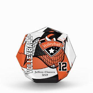 MVP Volleyball Player   DIY Text - Orange Acrylic Award