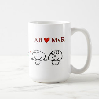 MVR del corazón del AB Tazas De Café