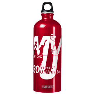 MVU 30 Year Disc Design Aluminum Water Bottle