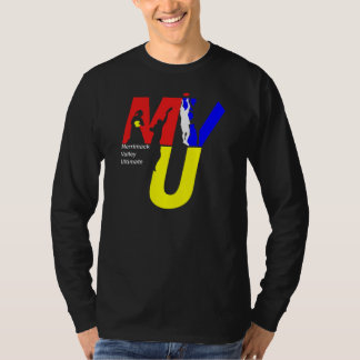 MVU logo shirt - 3 color on black