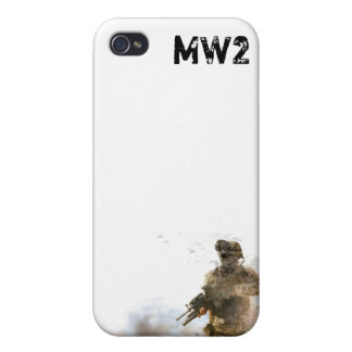 MW2 White I Phone 4 Cover 2 iPhone 4/4S Cases