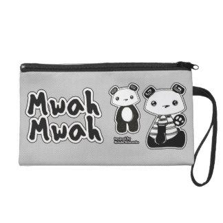 Mwah panda bagettes wristlet