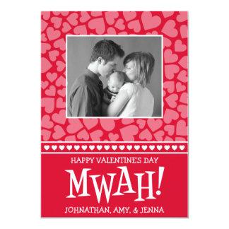MWAH! Valetine's Day Photo Card (Red)