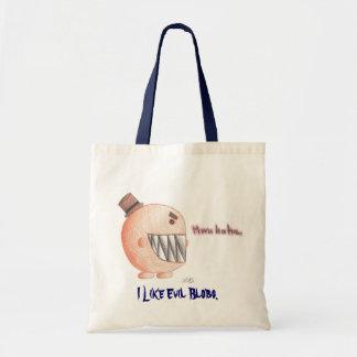 mwahaha..., I Like Evil Blobs. Tote Bag
